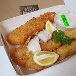 Panko crumbed fish is available at no extra cost