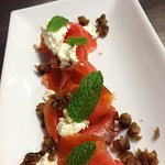 Smoked salmon and capers perfect summer entree