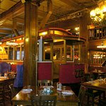 Trolley car is part of decor