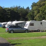 Our caravan on-pitch