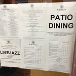 The Menu Outside The Building