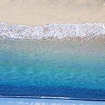 Pristine clear calm lagoon. By far the best beach in Samoa
