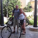 offf on our bikes. courtesy of the Hotel Epoque to see the city of Bucharest.