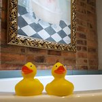 Rubber duckies with the bathtub!