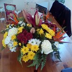 Flowers arranged by Santa Clara for our annivesary