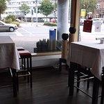 Die Innen-Einrichtung vom Cafe und Restaurant.