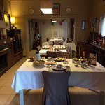 The dining room in the morning.