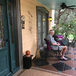 porch seating at Victorian house