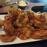 Calamari with  a touch of sweet chili