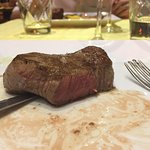 Wonderful food and delicious wine. My steak was ordered rare and was perfectly cooked. Lovely at
