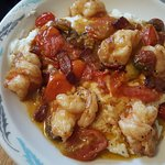 The breakfast menu was just awesome, and included shrimp and grits.  Fantastic!