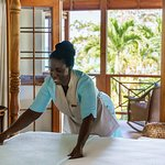 Each villas comes with a personal housekeeper.