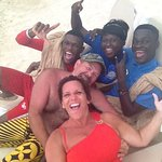 Our adopted family at Beaches - Ocho Rios - the BEST Staff! Rashane, Ajay and Jessica!