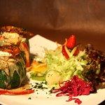 Calabacin Relleno (Vegetariano)  - Courgette Stuffed (Vegetarian)
