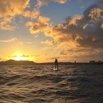 Kahala Run at sunset with Robert of Blue Planet