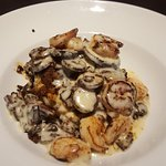 shrimp and grits with mushrooms