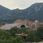 View of UC Boulder Campus and Flatiron Mts from my room