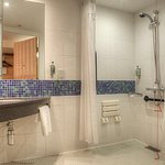 Wheelchair Accessible en-suite bathroom with walk in shower