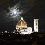 Night time view of the Duomo from the hotel