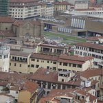 View of the back of the hotel from the top of the Duomo