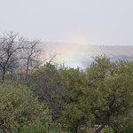 Victoria Falls spray from our room