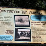 "Interpretative sign about the flood that created ""The Big Ditch"""