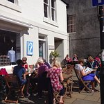 Sunny day at our cafe, during Pittenweem Arts Festival