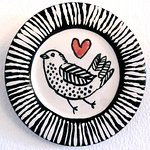 Handmade ceramics by our resident artist, Karen Edward