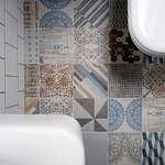 Tiles in our quad rooms.