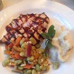 Grilled chicken dinner