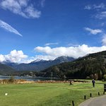 Mountains and lake surrounding Nicklaus North