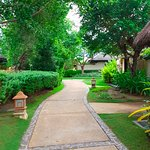 Walk to the rooms/villas