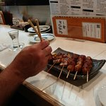 Chicken Skin, tails, heart and gizzard!!  More Yakitori Please!!!