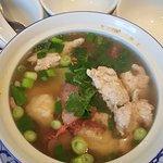 Won Ton Soup with BBQ Pork