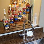 Italian Soda station near Breakfast area. Faucet specifically there for carbonated water with sy