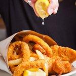 The Fish Frenzy - Fish, scallops, calamari & amazing chips!