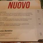 Italiannis Pasta Pizza and Vino Menu
