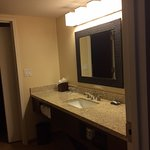 nice, separate sink are of bathroom. updated granite is nice