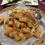 Salt and pepper deep fried tofu