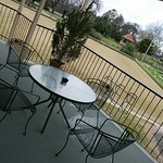 Balcony has great views across the bowling greens and the Benalla Botanical Gardens beyond