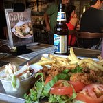 Clam Roll and Cold Beer