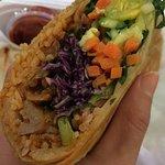 Yum! Bibimbap burrito!