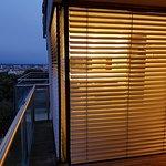 Blick vom Balkon auf Bad & Ausblick