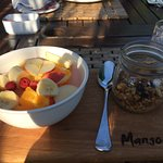 Homemade Muesli with Fresh Fruit Salad