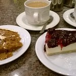 Gluten free carrot cake and cheesecake - so yummy!