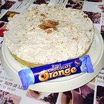 Homemade terrys chocolate orange cheesecake