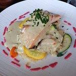 Brochettes de poulet / choucroute de saumon