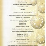 Christmas party menu 2016, bookings now being taken