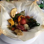 vegetables roasted in parchment paper