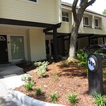 The entrance to the units is beautiful. The landscaping is newly renovated as well.